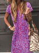 Casual Printed Short Sleeve Dresses