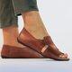 Brown Leather Summer Flat Heel Flats