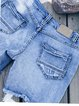 Blue Casual Brushed Pants