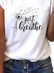 Plus size Short Sleeve Letter Shirts & Tops