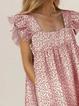 Red Vintage Cotton Dresses