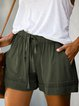 Women's Elastic Waist Casual Shorts