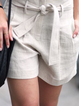 Plus size Solid Casual Shorts