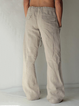 Khaki Cotton Casual Pants