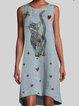 Blue Cotton Vintage Dresses