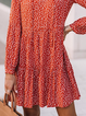 Plus size Printed Long Sleeve Dresses