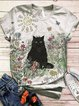 Plus Size Animal Short Sleeve Shirts & Tops