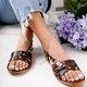Black Leather Summer Sandals