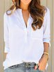 Women Striped Chest-Pockets V-Neck Casual Shirts