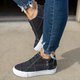 Women Low Heel All Season Closed Toe Canvas Sneakers