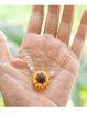 Golden Flower Necklaces
