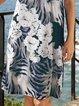 Women Floral Kaftan Printed Casual Dresses