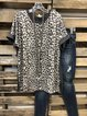 Leopard Crew Neck Casual T-Shirts
