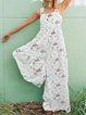 Vintage Casual Plus Size Floral Printed Jumpsuit Overalls One-Pieces