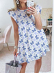 White Cotton Short Sleeve Casual Dresses