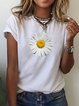 Floral Cotton-Blend Casual Shirts & Tops