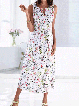 Vintage Casual Plus Size Floral Printed Keyhole Maxi Dresses