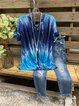Blue Short Sleeve Casual Shirts & Top