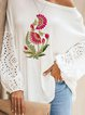 White Holiday Cotton Shirts & Tops