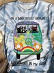 Plus Size Crew Neck Floral Casual Cotton-Blend Shirts & Tops