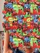 Multicolor Animal Long Sleeve Shirts & Tops