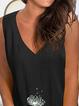 Plus size V Neck Casual Sleeveless Shirts & Tops