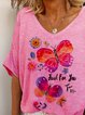 Pink Short Sleeve Cotton Casual Shirts & Tops