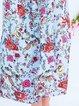 Floral Midi Dress Summer Plus Size Pockets Short Sleeve Dresses