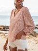 Pink Boho Floral Shirts & Tops