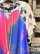 Blue 1 Cotton Short Sleeve Shirts & Tops