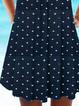 Deep Blue Cotton Holiday V Neck Dresses