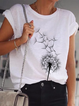 White Short Sleeve Crew Neck Knitted Shirts & Tops