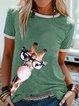 Green Printed Casual Shirts & Tops