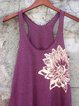 Purple Cotton Sleeveless Shirts & Tops