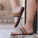 Multicolor Summer Leather Daily Slippers