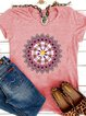 Short Sleeve Round Neck Printed Shirts & Tops