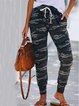 Pockets Casual Cotton-Blend Pants
