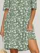 Plus size Floral V Neck Casual Dresses