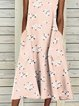 Lightpink Printed Sleeveless Dresses