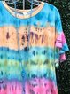 Cotton-Blend Short Sleeve O-Neck Shirts & Tops