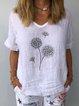 Floral Shift Short Sleeve Shirts & Tops