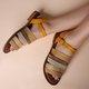 Color Block Summer Sandals
