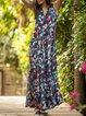 Bohemian Loose Flare Sleeveless Frill Tank Dress