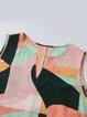 Summer Sleeveless Maxi Dress Plus Size V Neck Dresses