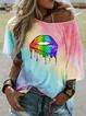 Scoop Neckline Casual Shirts & Tops