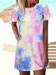 Cotton Boho Floral-Print Short Sleeve Dresses