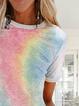 Multicolor Casual Gradient Shirts & Tops