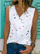 Sleeveless Vintage Cotton-Blend Shirts & Tops