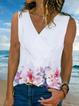 Casual V Neck Sleeveless Shirts & Tops