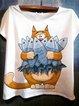Cute casual printed T-shirt